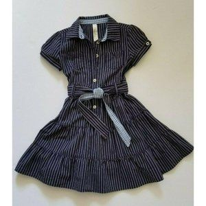 Cherokee Fit Flare Cotton Dress Blue
